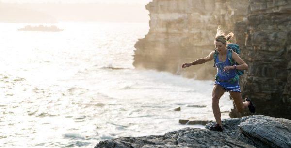 Woman hiking in Sydney