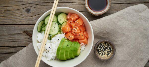 tiktok salmon rice bowl